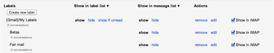 Nesting labels in Gmail