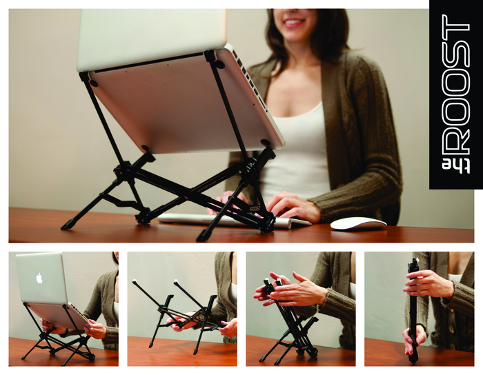 Kickstarter: The Roost Elevates Your Laptop To Correct Bad Posture
