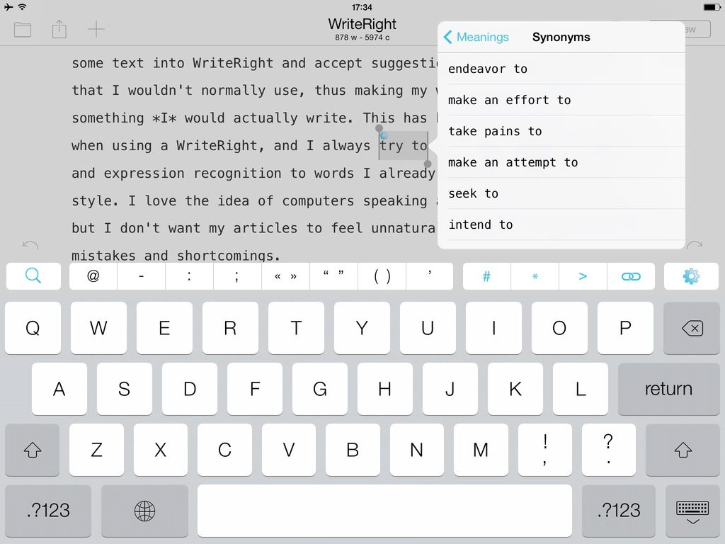 WriteRight: A Text Editor with English Synonyms and Antonyms