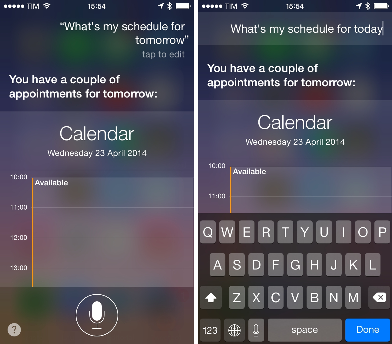 Siri offers a text editing mode, but it's limited to fixing previously spoken commands.