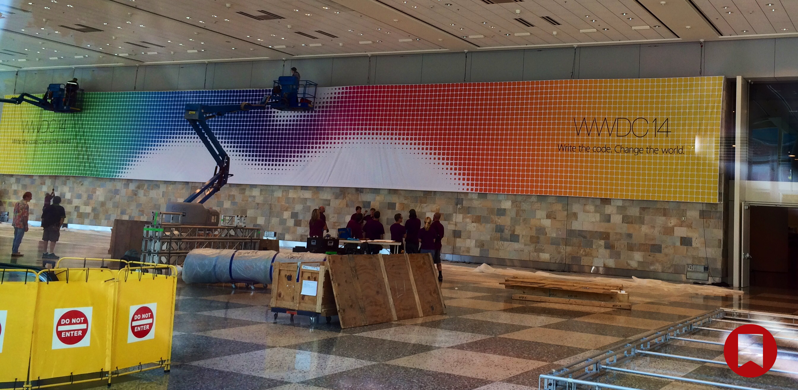 Apple's WWDC 2014 banner at Moscone West. Click image for full-size.