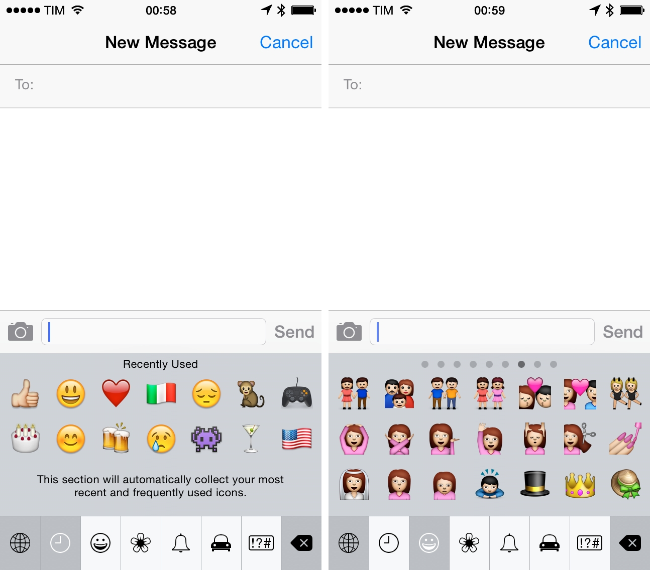 Emoji characters in iOS 7.