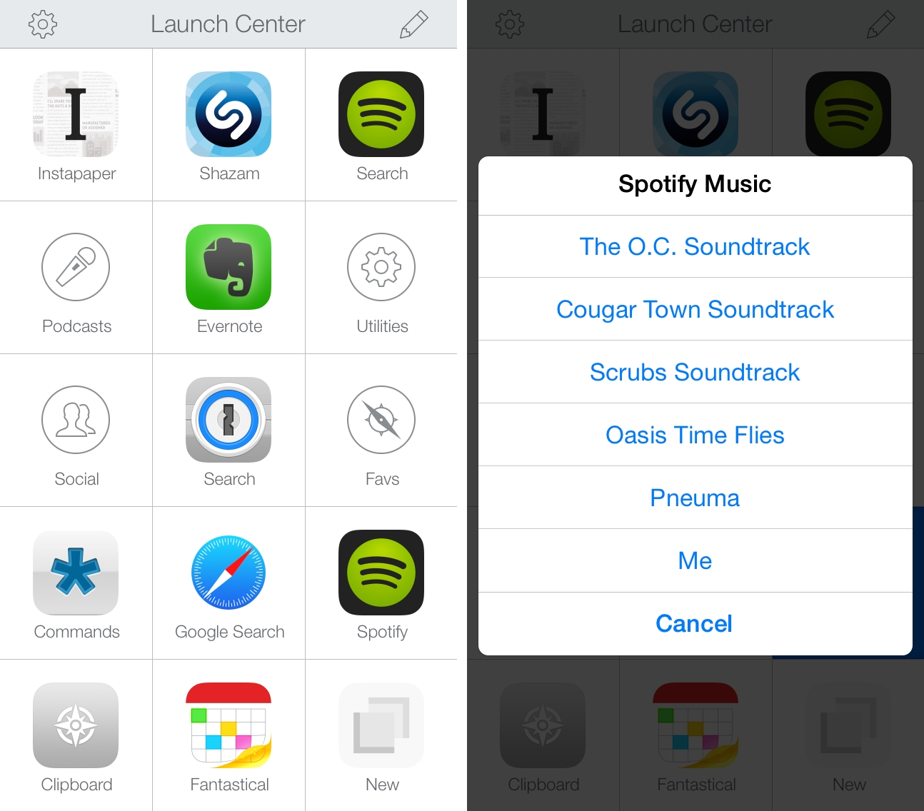 Spotify Actions for Launch Center Pro MacStories