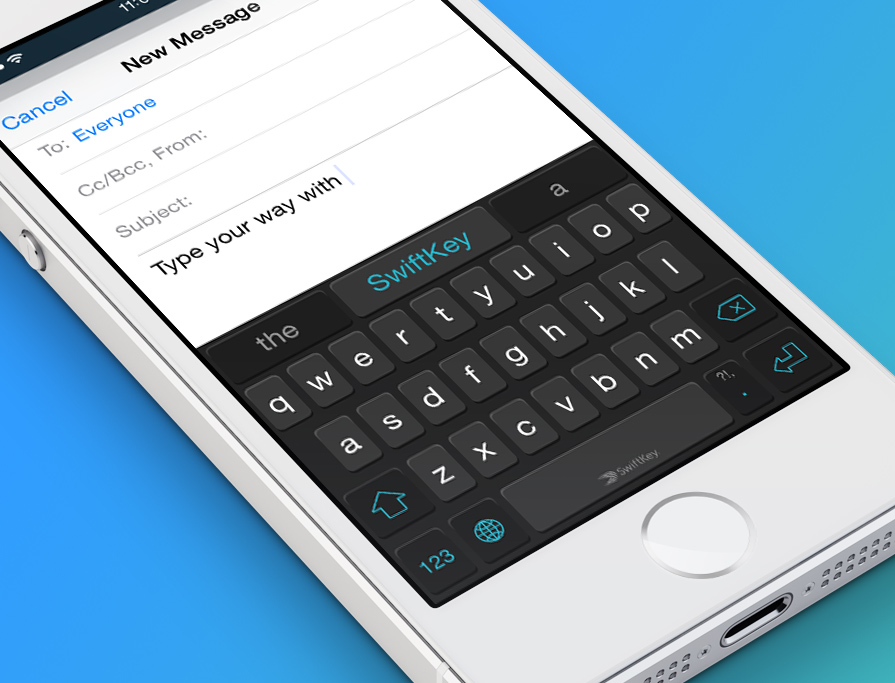 SwiftKey Custom Keyboard Launching with iOS 8 Next Week