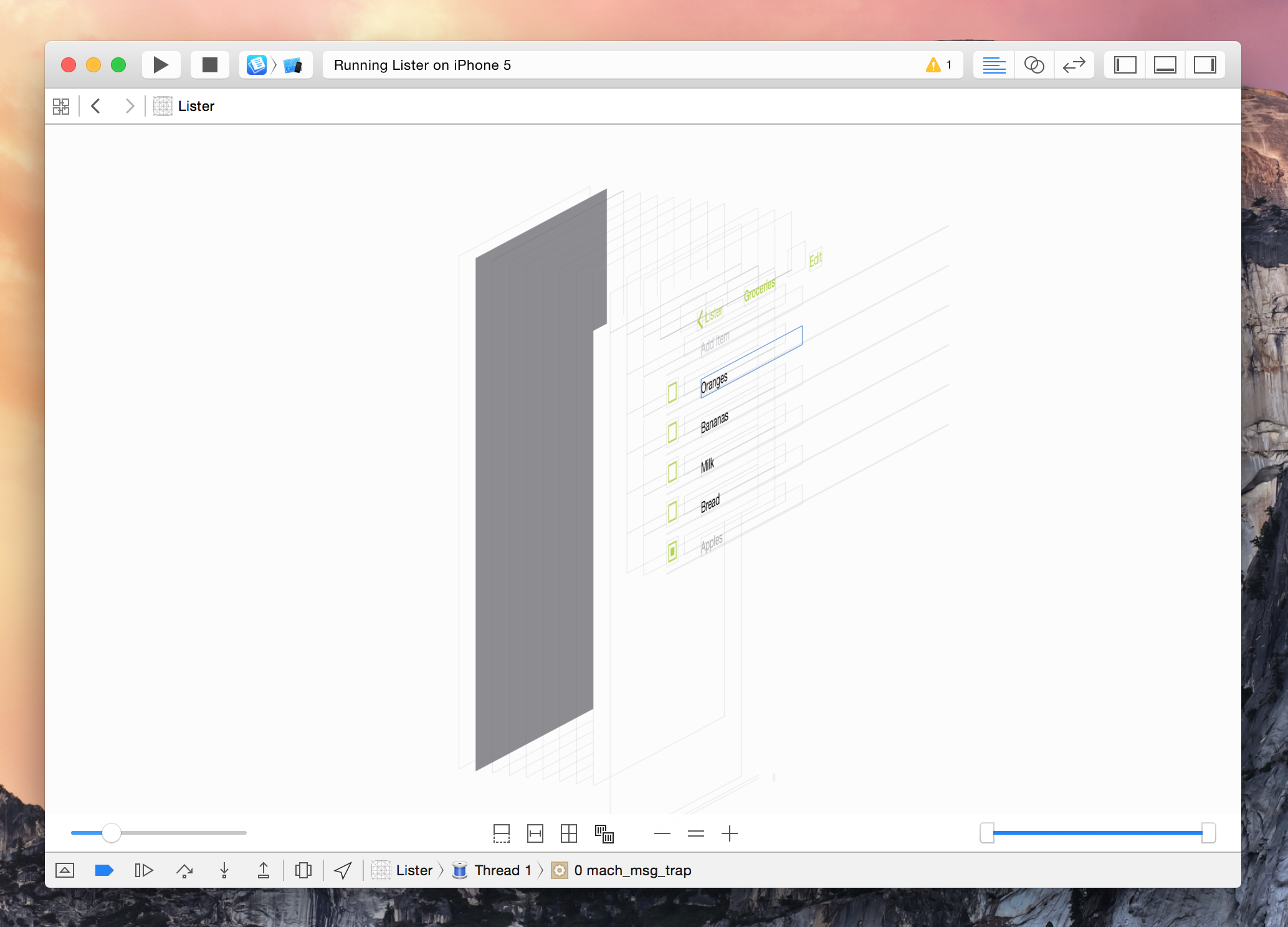 Xcode 6 live rendering visual view debugging and swift for Xcode 6 tableview