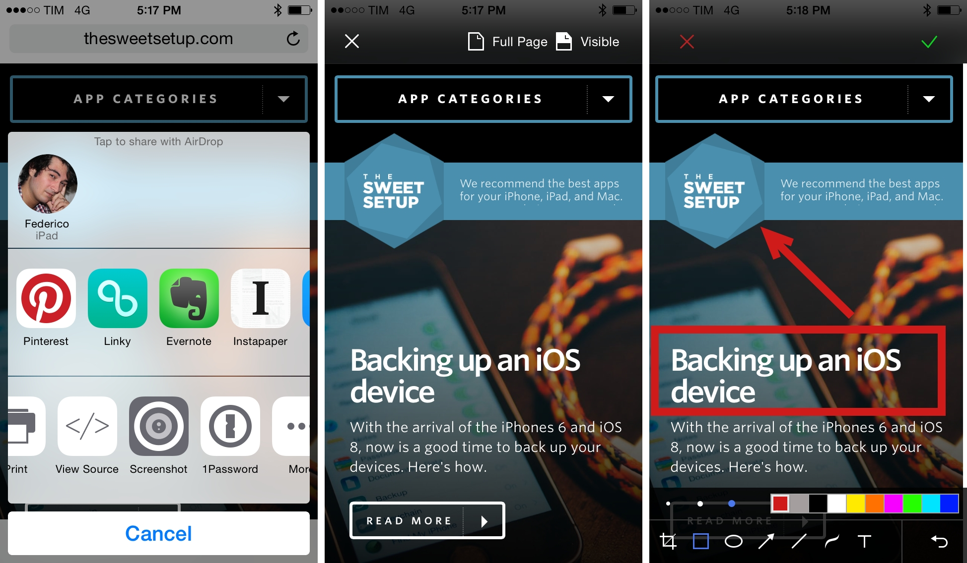 Awesome Screenshot Captures Webpages As Screenshots with an iOS 8 Extension – MacStories