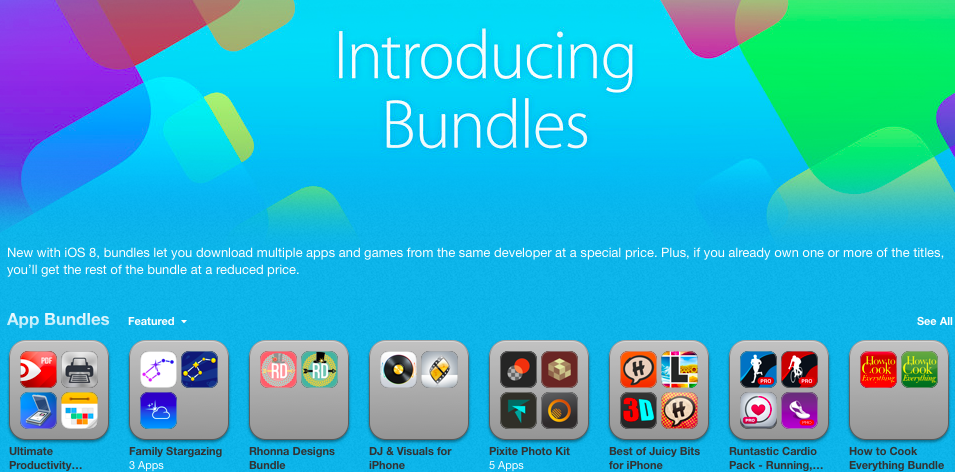 One Week After iOS 8, Developers Comment on App Bundles