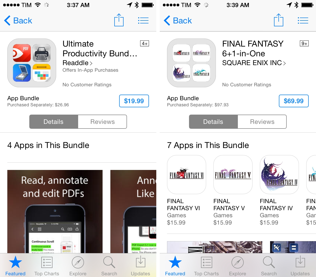 Bundles on the App Store.