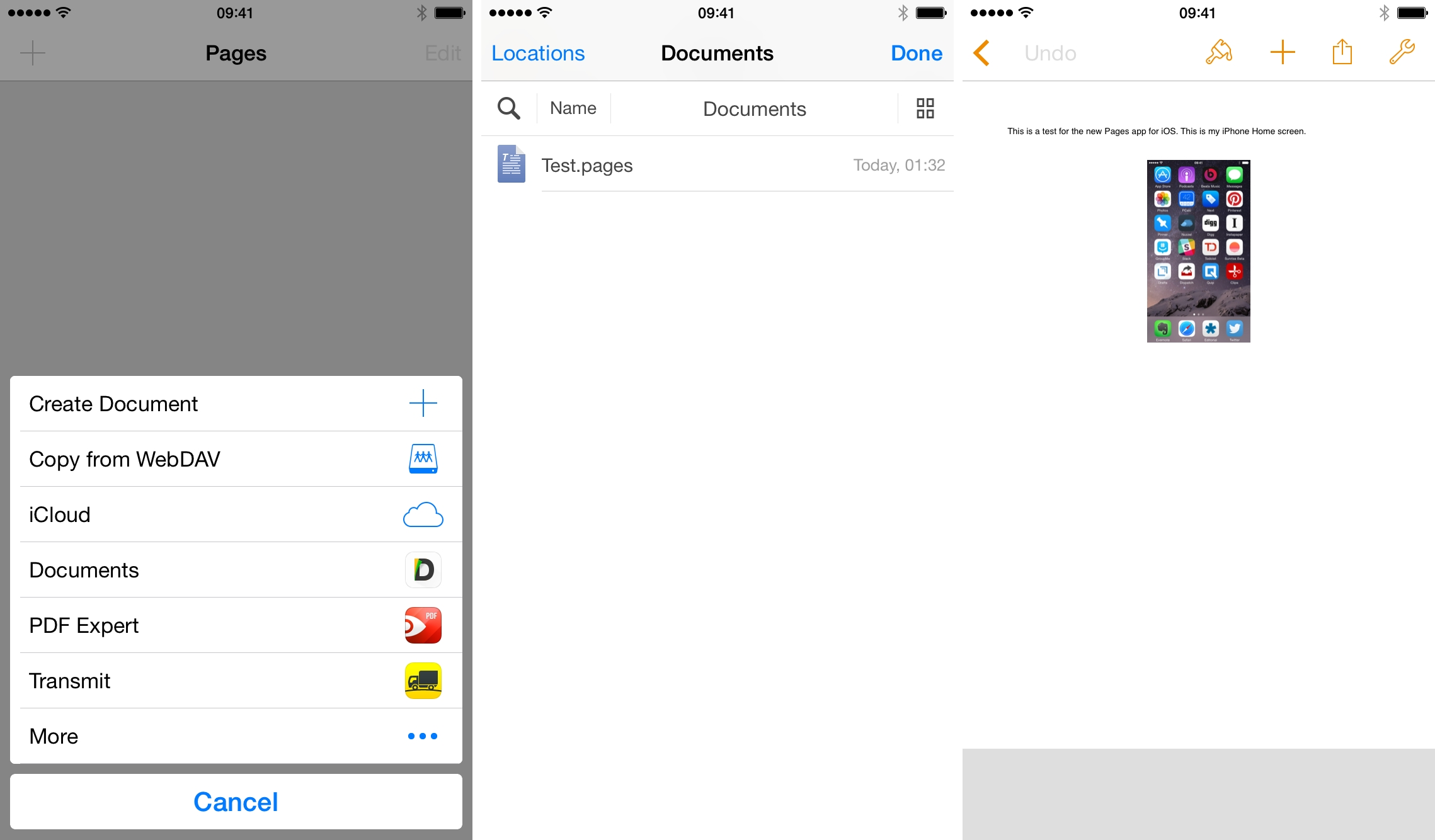 Testing storage providers in the new iWork for iOS 8.