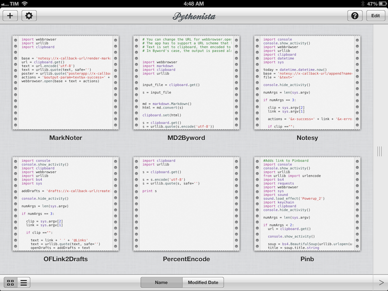 Automating iOS: How Pythonista Changed My Workflow MacStories